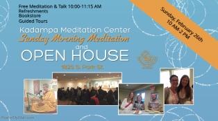 SUNDAY MORNING MEDITATION & OPEN HOUSE – FEB 26