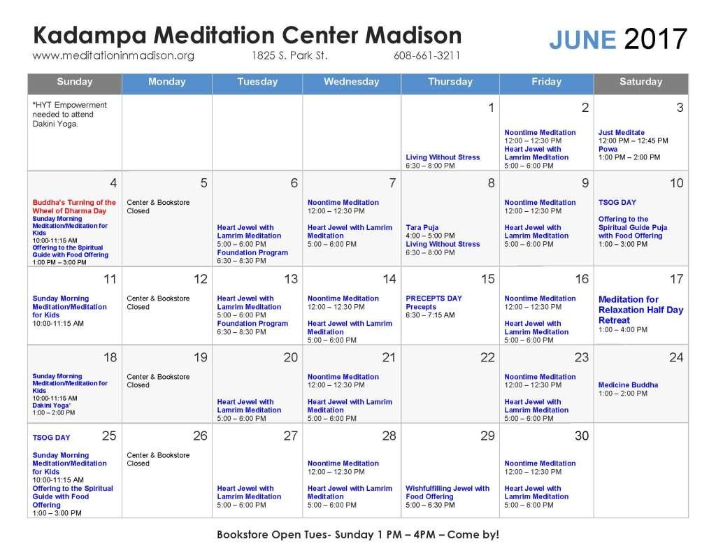 June 2017 Calendar - r3